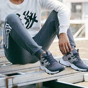 Gray & Red Street Runner Running Shoe